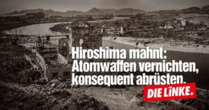 Mahnung Hiroshima Bild 08.2016