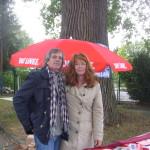 Cornelia und Dietmar Buttler 21.09.2014 - Wochenmarkt Hagen - 21.09.2015 -Info-Tisch zu den Freihandelsabkommen