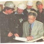 25.04.1996: Übergabe von 12 000 Unterschriften für den Erhalt der Werften an Regierungschef Henning Scherf